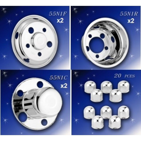 Hino Dutro 300 Wheel Trims 16 Inch (5 Stud Stainless Steel Hub Caps)