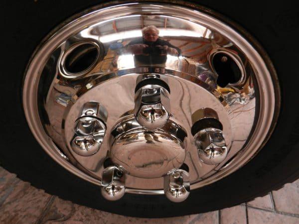 "Fits Toyota Coaster Wheel Trims 16"" 5 stud Stainless Steel Hub Caps"