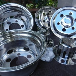 "I FITS International N1630 6 Stud 16"" Wheel Chrome Covers"