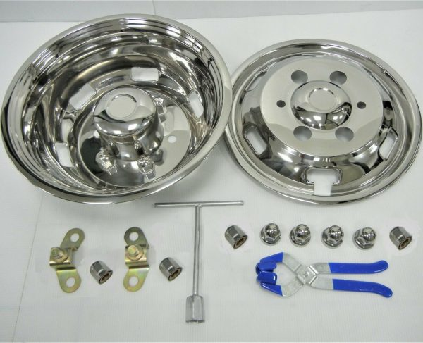 Chrome Wheel Covers for Iveco Daily 6 Stud 16 Inch