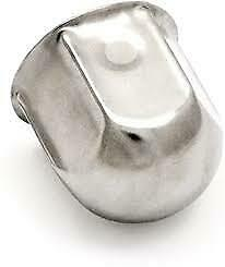 10 Wheel Nut Covers (38mm Stainless Steel)